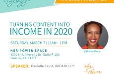 Meetup on blog monetization featuring Danielle Faust