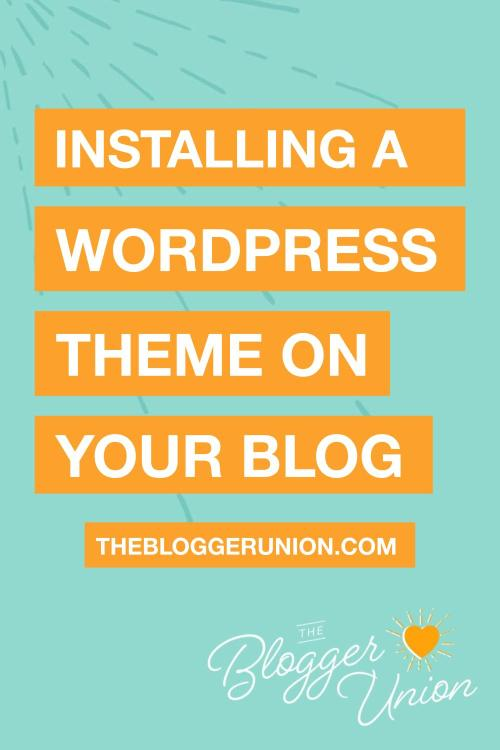 Installing a WordPress Theme on your site or blog