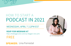 How To Start a Podcast: NYC Bloggers Webinar