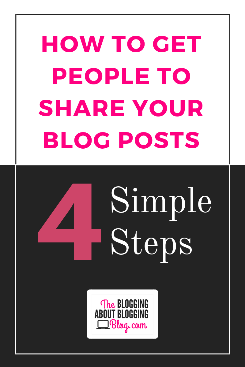 Advice for making your blog posts more shareable. | TheBloggingAboutBloggingBlog.com #bloggingtips #bloggers #bloggingforbeginners #socialmedia