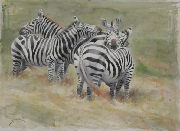 """Together"" 22x30"" Watercolor - Gunnar Tryggmo"
