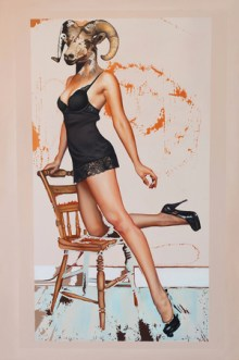 "© Emily Burns, Contessa, oil on canvas, 32 x 48"", 2012."