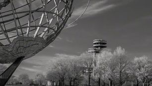 Worlds Fair – Infrared, Corona Park, Flushing Meadows, New York ©2014 Robert Marsala