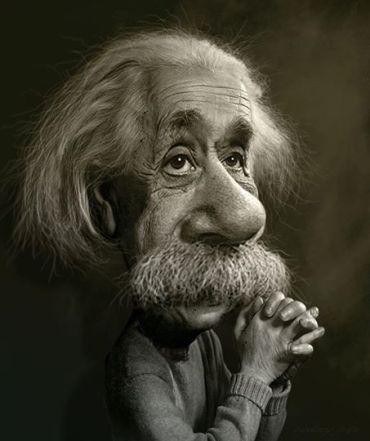 ∫ Albert Einstein Study © Rodney Pike.