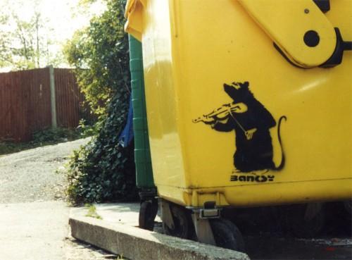 ∫ Banksy Bin Rat (Courtesty Northern Lights MN)