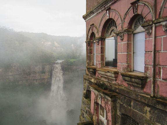 Hotel del Salto overlooking Tequendama Falls - Courtesy Wikipedia