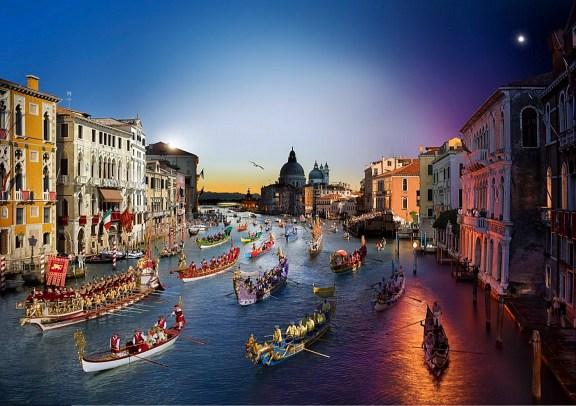 Regata Storica, Venice Day to Night, 2015 © Stephen Wilkes
