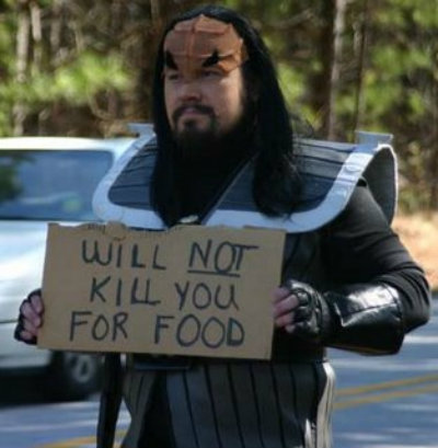 Klingon panhandler