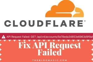 Cloudflare API Request Failed