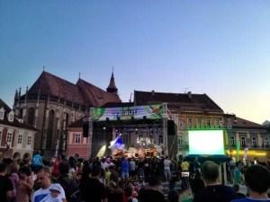 concert in brasov main square