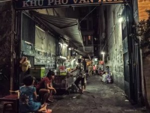 A Homeless Guy in a Random Alley of Saigon