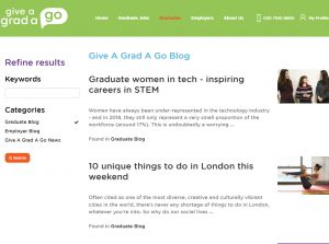 Top Graduate Blogs - Give a Grad a Go