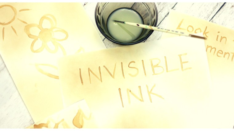 Invisible Ink Experiment
