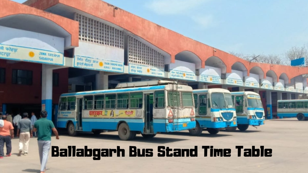 Ballabgarh Bus Stand Time Table 2019 Updated from hartrans.gov.in