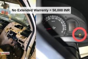 No Extended Warrenty = 50,000