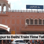 Jaipur to Delhi Train Time Table 2019 Updated Officially - TBR