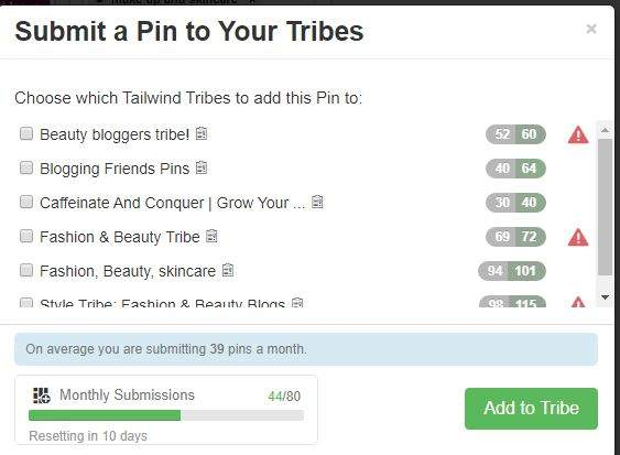 Submitting to Tribes