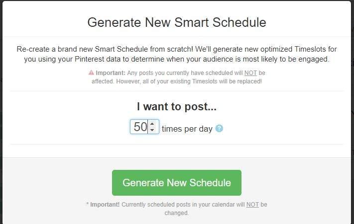 New Smart Schedule