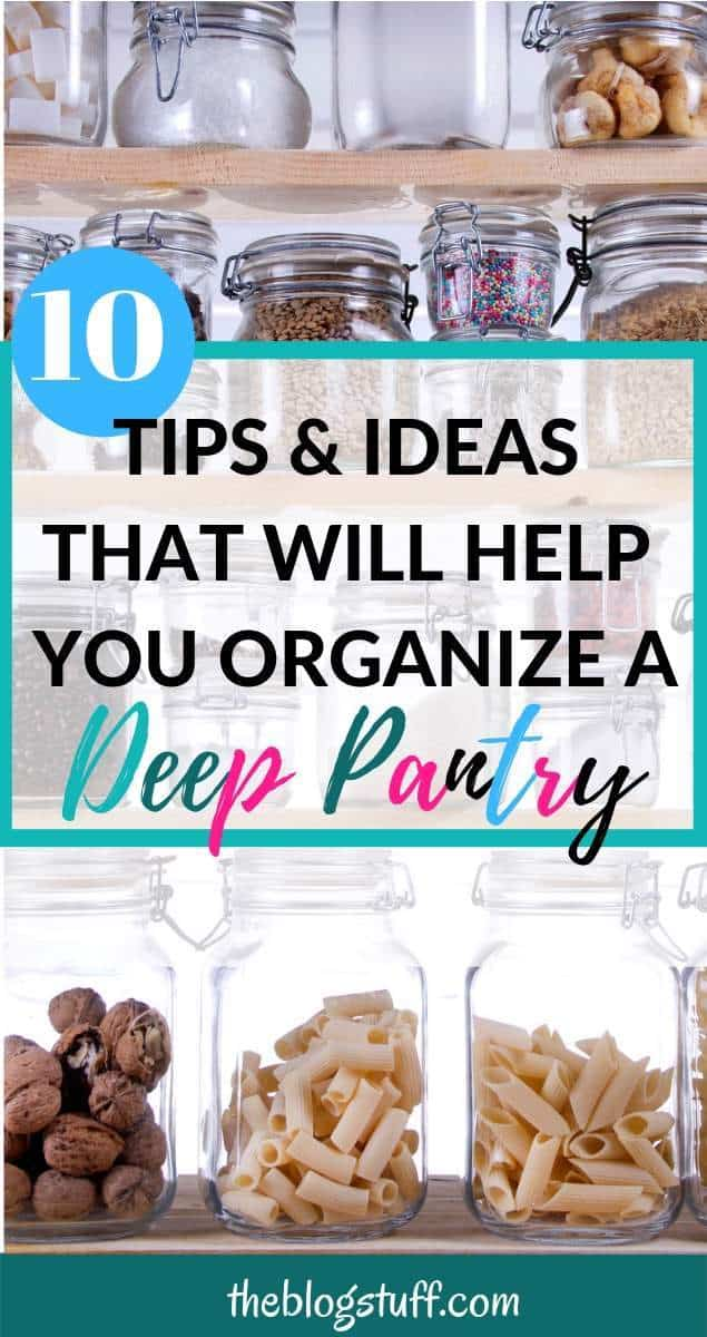 Cheap ways to organize a pantry