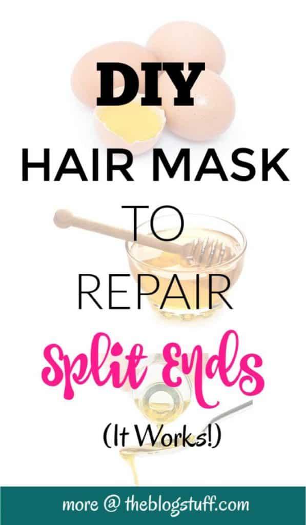 Split ends repair DIY hair mask