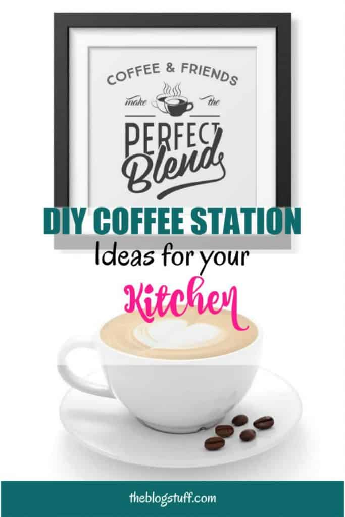 DIY coffee station ideas for your kitchen. Learn how to set up a coffee bar at home with these decor ideas and tips.