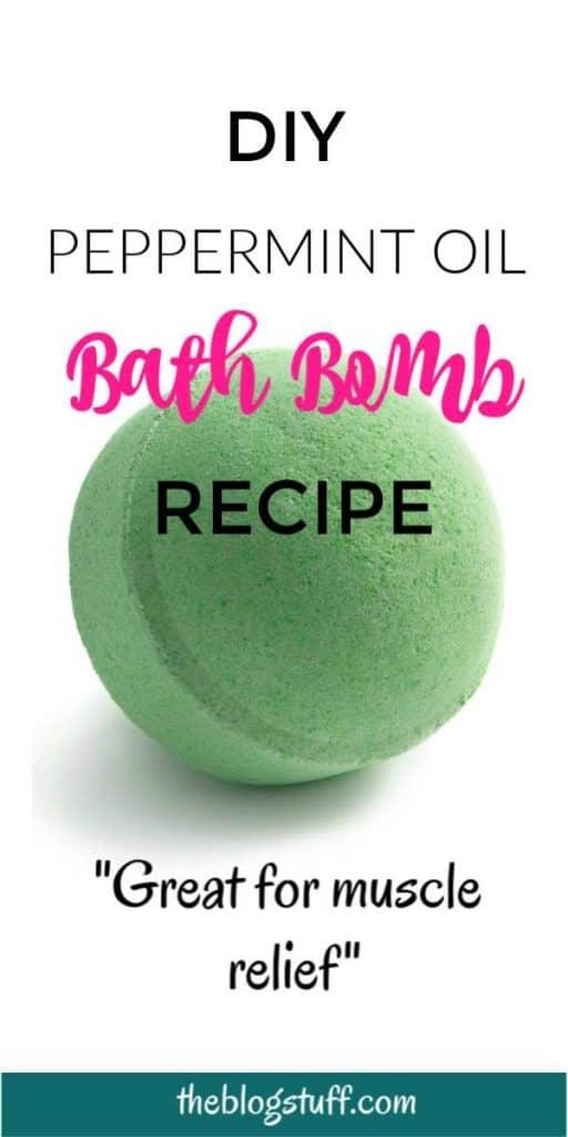 Peppermint bath bomb - Homemade peppermint essential oil bath bomb recipe