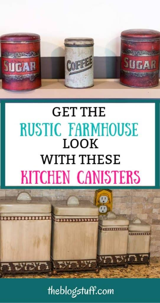 Rustic country kitchen canister sets