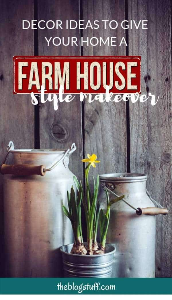 If you love farmhouse decor style you will love these ideas and accessories for a charming and beautiful makeover.