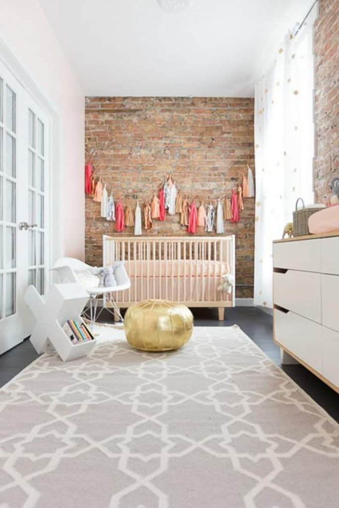 Trendy baby nursery
