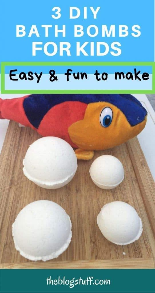 DIY bath bombs for kids with grapefruit essential oil.