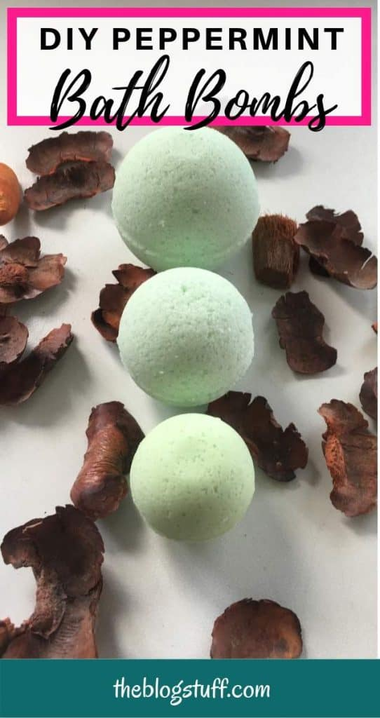 DIY peppermint bath bomb recipe