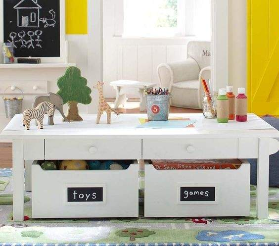 How to declutter toys in the living room