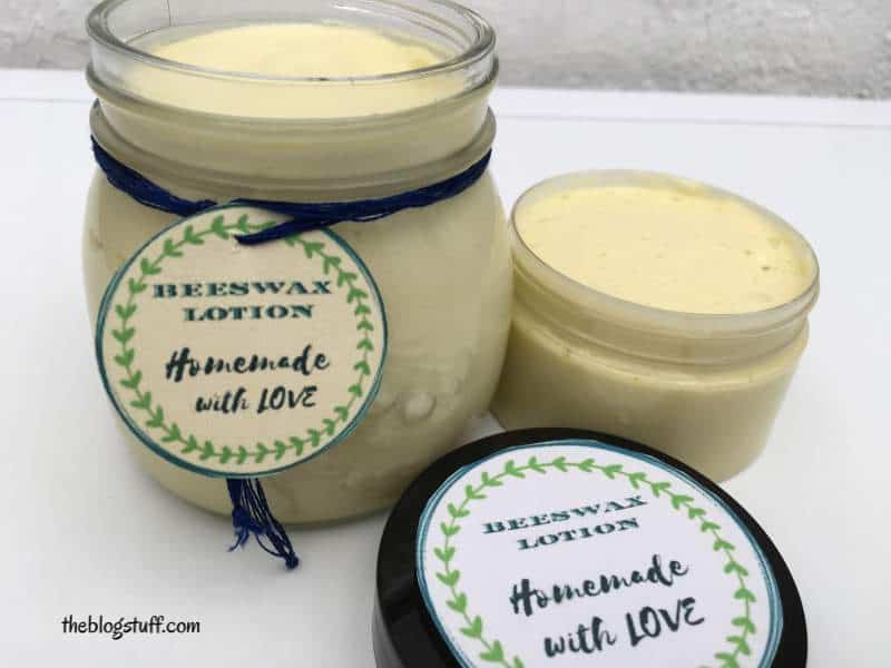 Homemade beeswax body moisturizer lotion recipe
