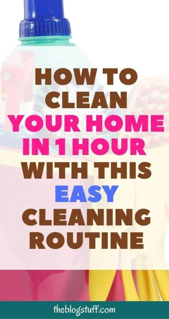 How to clean your home in one hour