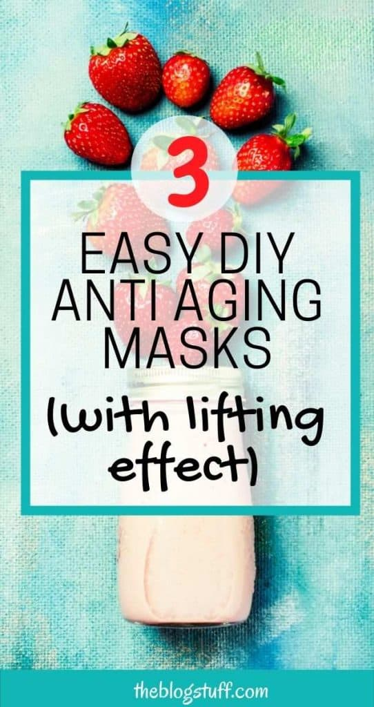 Homemade anti aging and lifting face mask