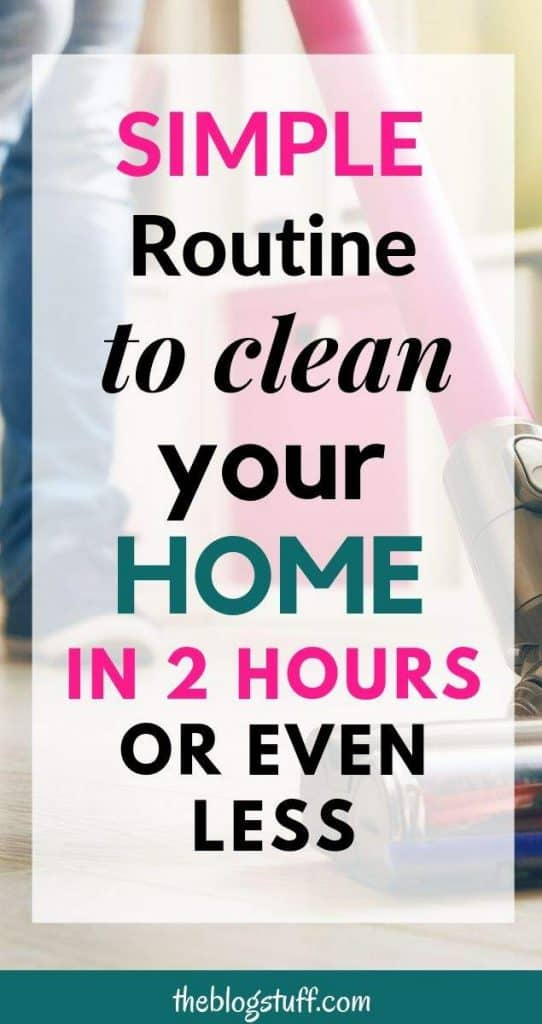How to clean your house in 2 hours and sometimes even less