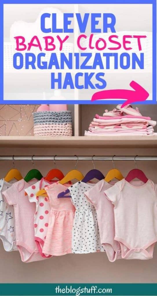 Baby closet organization solutions