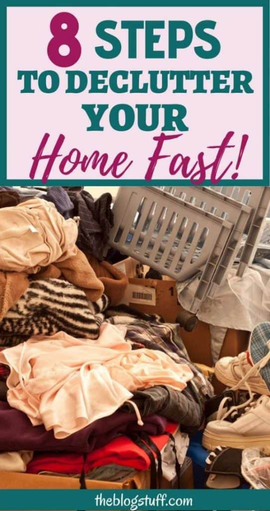 Tips to declutter your home fast room by room
