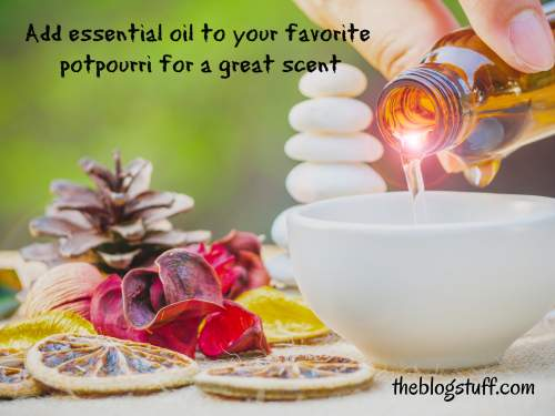 Potpourri and essential oils for a great home scent