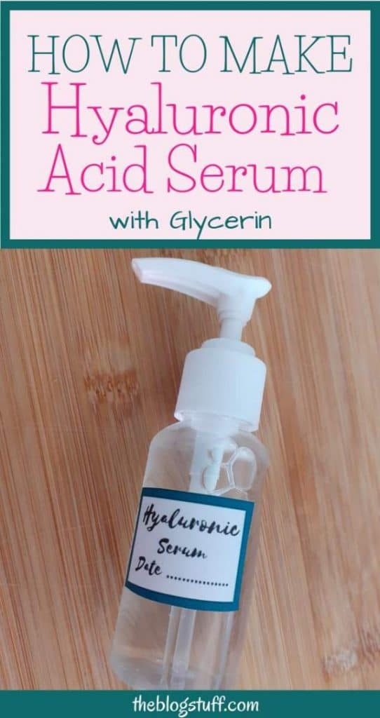 How to make hyaluronic acid serum with glycerin
