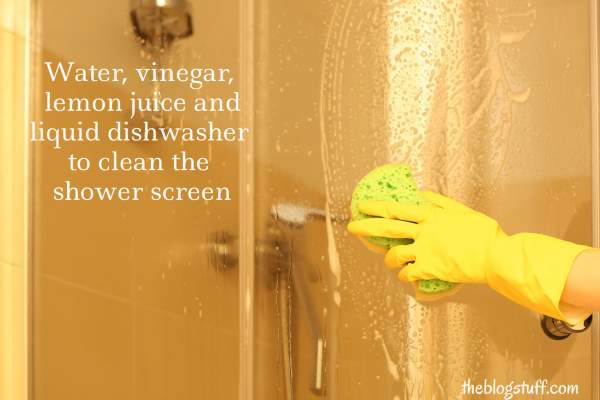 How to clean shower screen naturally
