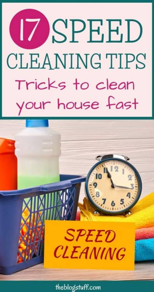 Speed cleaning tips for your home