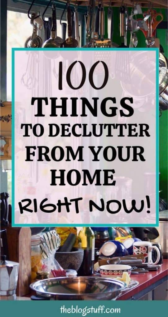 List of things to declutter