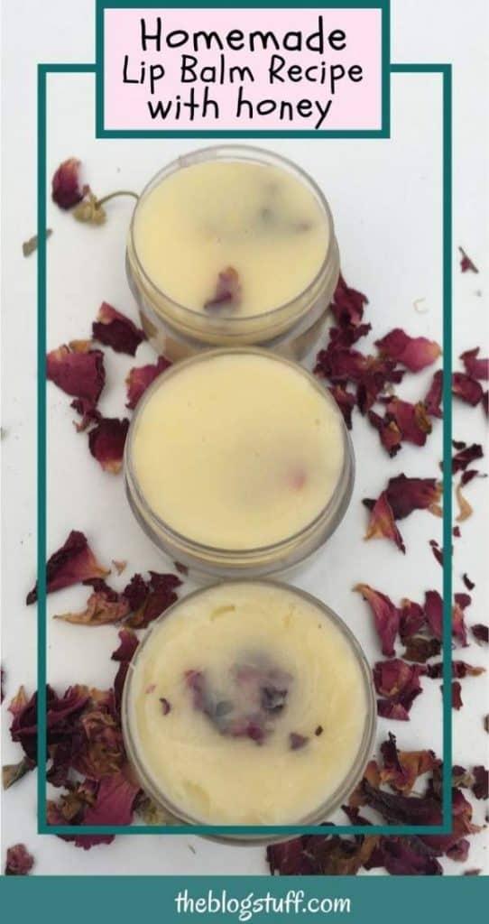 Homemade lip balm recipe with honey