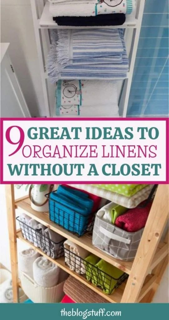 How to organize linens without a linen closet
