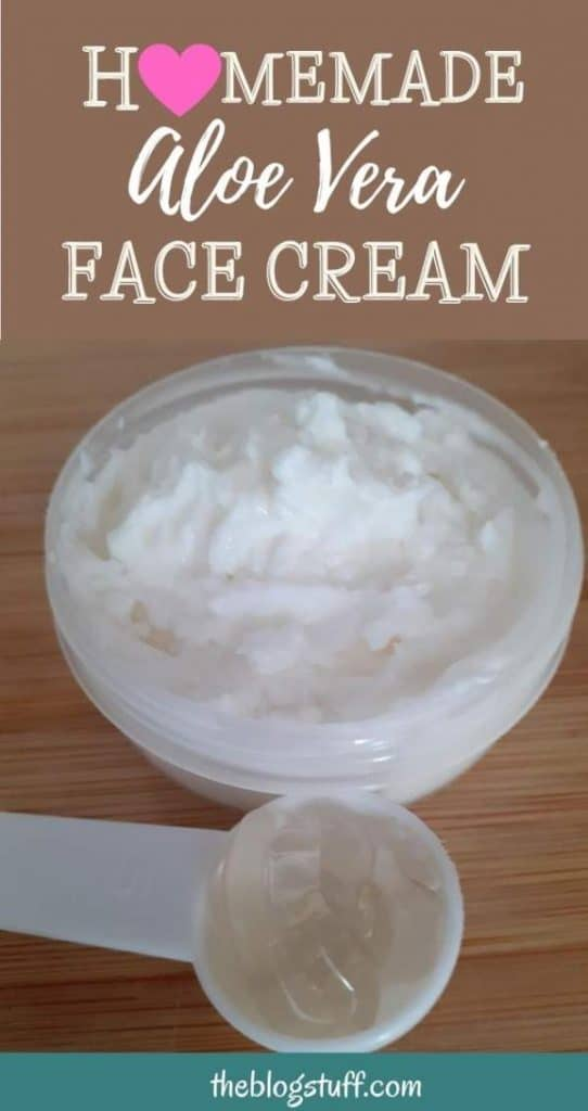 DIY aloe vera face cream recipe