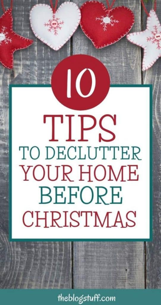 Things to declutter before Christmas