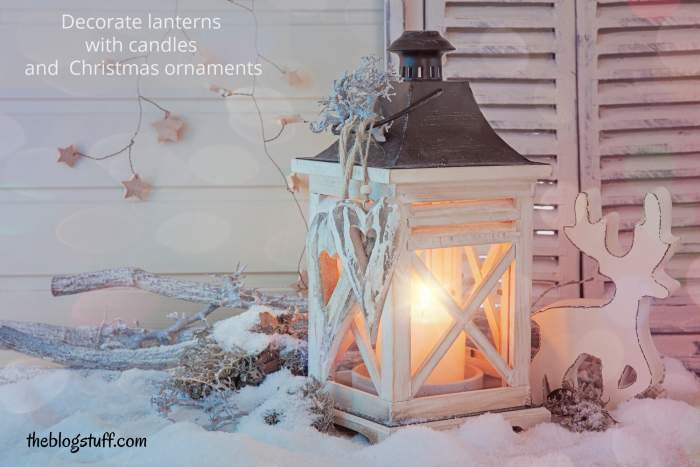 Rustic Chrismas lantern decor tips