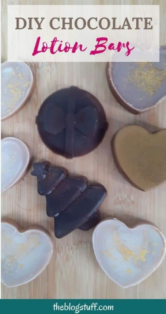 DIY chocolate lotion bars