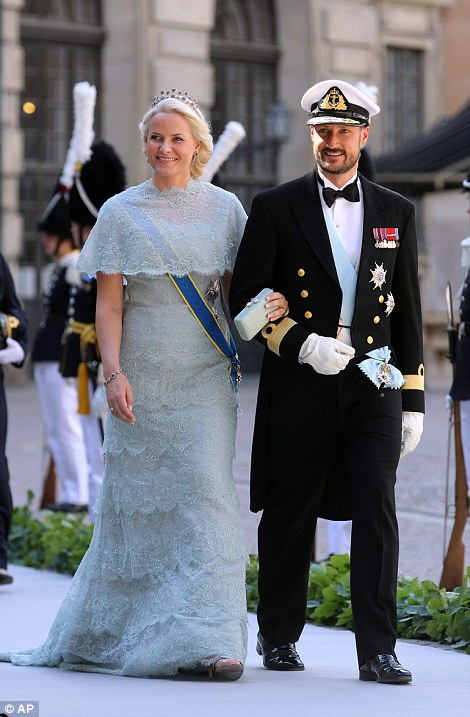 Crown Prince Haakon and his wife Crown Princess Mette-Marit (of Norway).